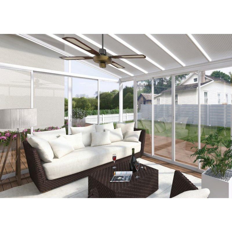 Palram SanRemo 13' x 14' Patio Enclosure in White with Screen Doors (HG9068)