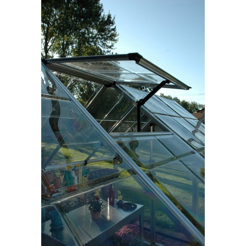 Palram Snap & Grow 6' x 12' Hobby Greenhouse in Silver