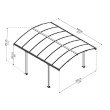 Palram Tucson 12 x 14 Gazebo in Gray (HG9161)