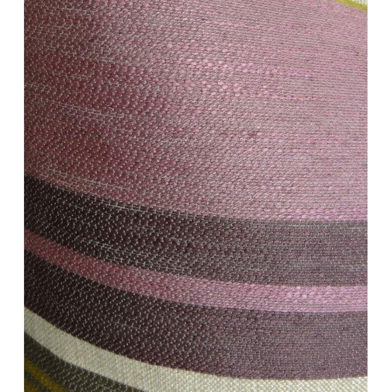 "Plutus Brands Acai Crush Berry Olive and Cream Handmade Luxury Pillow 20"" x 20"" (PBRAZ268-2020-DP)"