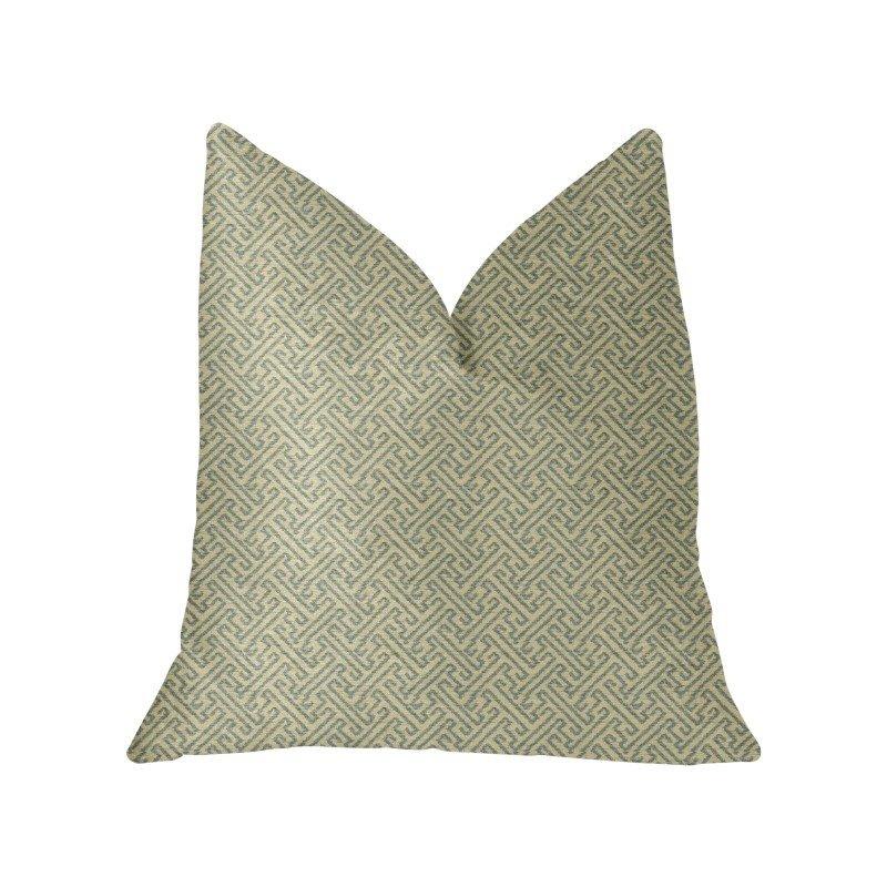 "Plutus Brands Alpine Maize Blue and Beige Luxury Throw Pillow 22"" x 22"" (PBKR2003-2222-DP)"
