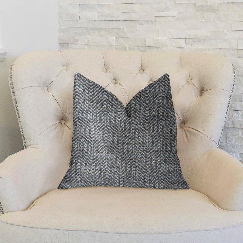 "Plutus Brands Amalfi Blue and Ivory Luxury Throw Pillow 20"" x 20"" (PBKR1976-2020-DP)"