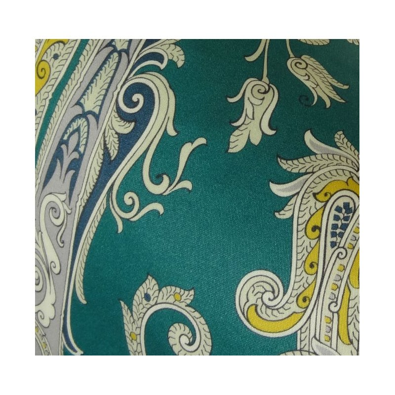 "Plutus Brands Annalise Blue Yellow and Green Handmade Luxury Pillow 12"" x 20"" (PBRAZ361-1220-DP)"