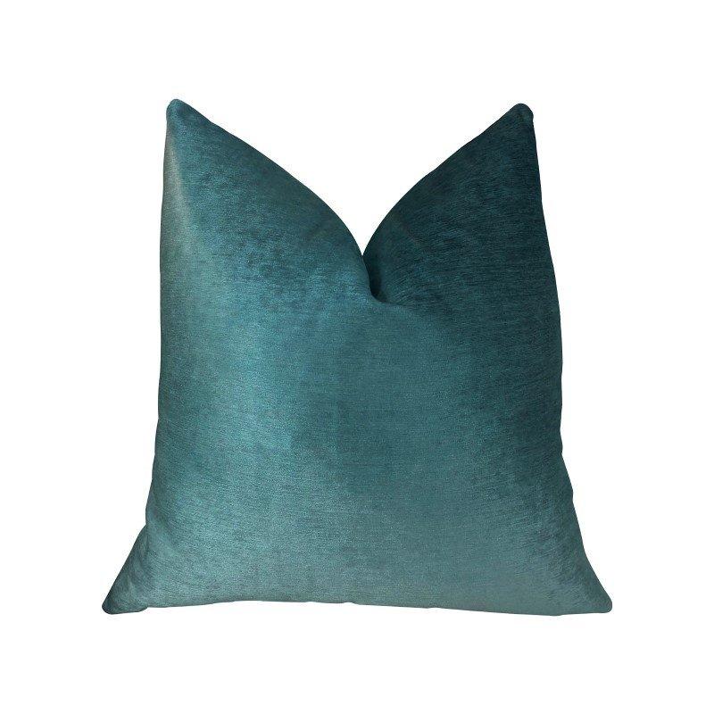 "Plutus Brands Aqua Dulce Teal Handmade Luxury Pillow 12"" x 20"" (PBRAZ381-1220-DP)"