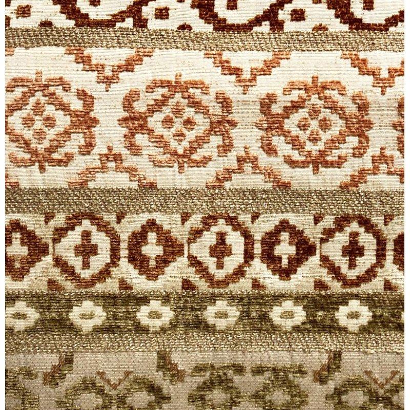 "Plutus Brands Arabesque Shades of Brown Luxury Throw Pillow 12"" x 25"" (PBRA1309-1225-DP)"
