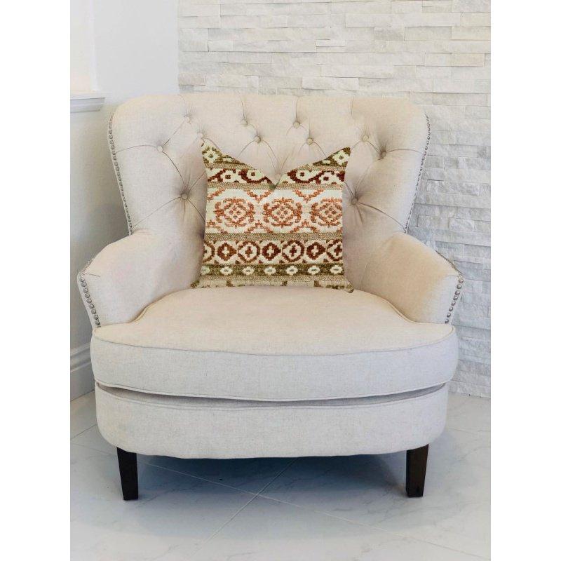 "Plutus Brands Arabesque Shades of Brown Luxury Throw Pillow 20"" x 30"" Queen (PBRA1309-2030-DP)"