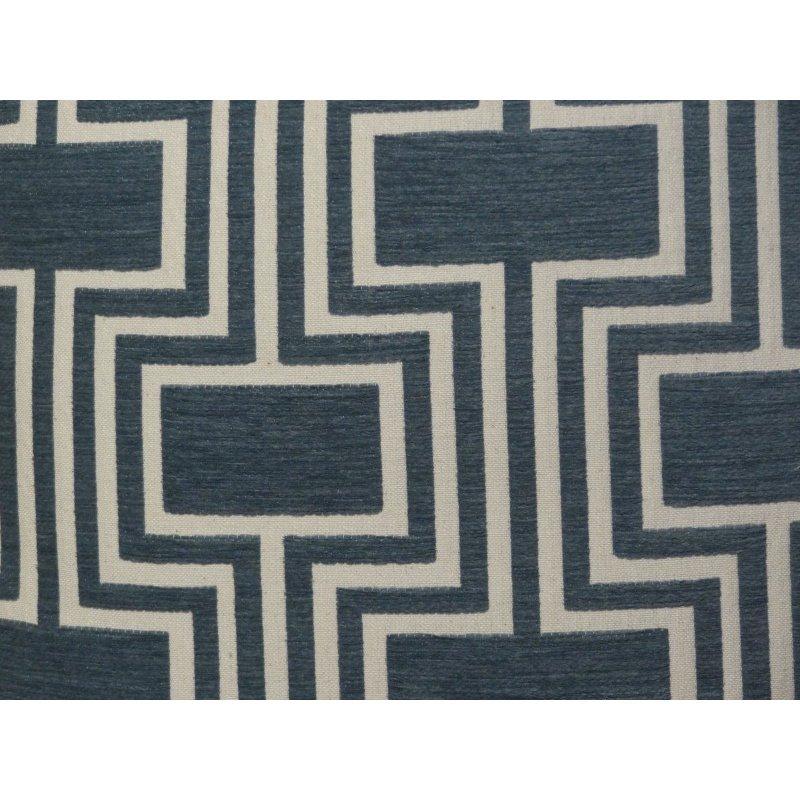"Plutus Brands Argyle Square Blue and White Handmade Luxury Pillow 20"" x 26"" Standard (PBRAZ207-2026-DP)"