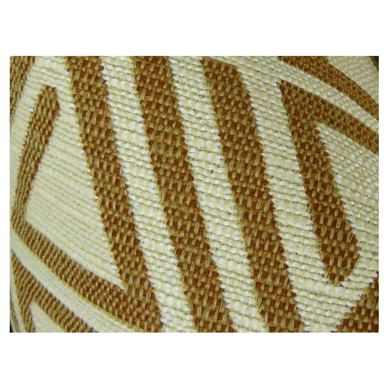 "Plutus Brands Arrow Maze Cream and Brown Handmade Luxury Pillow 18"" x 18"" (PBRAZ034-1818-DP)"