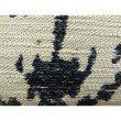 "Plutus Brands Artsy Canvas Navy Cream Handmade Luxury Pillow Double Sided 12"" x 20"" (PBRAZ386-1220-DP)"