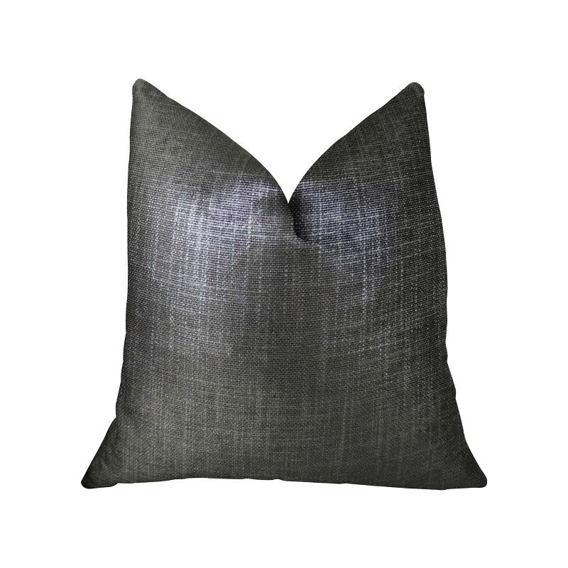 "Plutus Brands Ashland Glazed Gray Handmade Luxury Pillow 16"" x 16"" (PBRAZ374-1616-DP)"