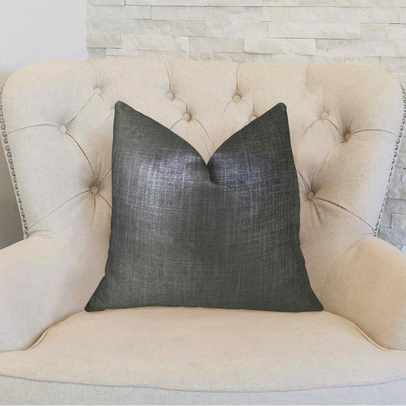 "Plutus Brands Ashland Glazed Gray Handmade Luxury Pillow 20"" x 20"" (PBRAZ374-2020-DP)"