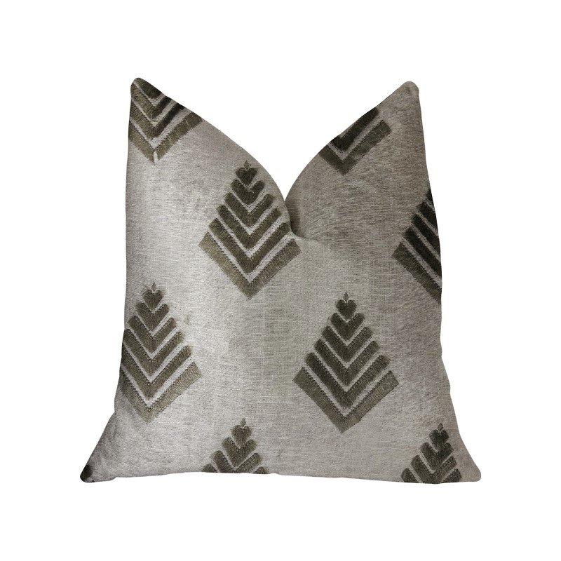 "Plutus Brands Aspen Mist Blue and Beige Luxury Throw Pillow 12"" x 20"" (PBRA2246-1220-DP)"