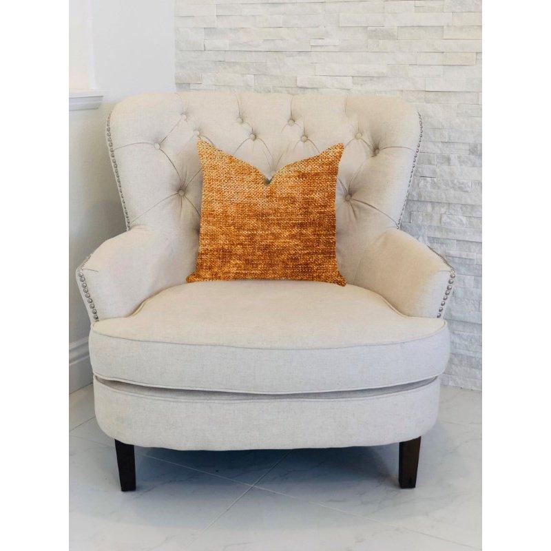 "Plutus Brands Aureila Brown Bronze Luxury Throw Pillow 20"" x 20"" (PBRA1312-2020-DP)"