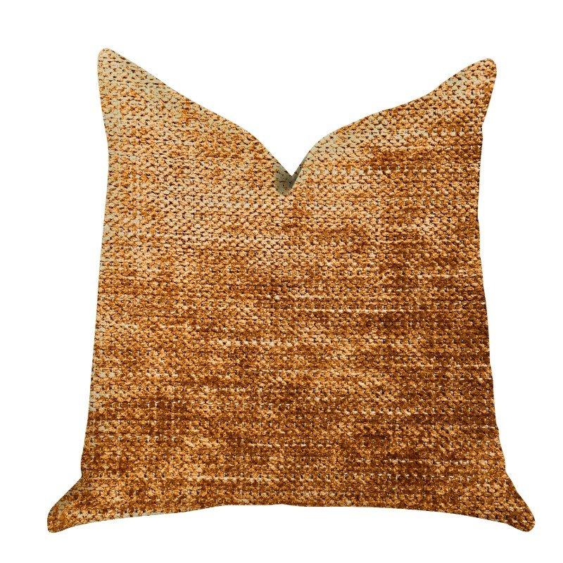 "Plutus Brands Aureila Brown Bronze Luxury Throw Pillow 26"" x 26"" (PBRA1312-2626-DP)"