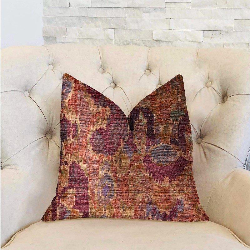 "Plutus Brands Bear Valley Red Luxury Throw Pillow 12"" x 20"" (PBRA2310-1220-DP)"