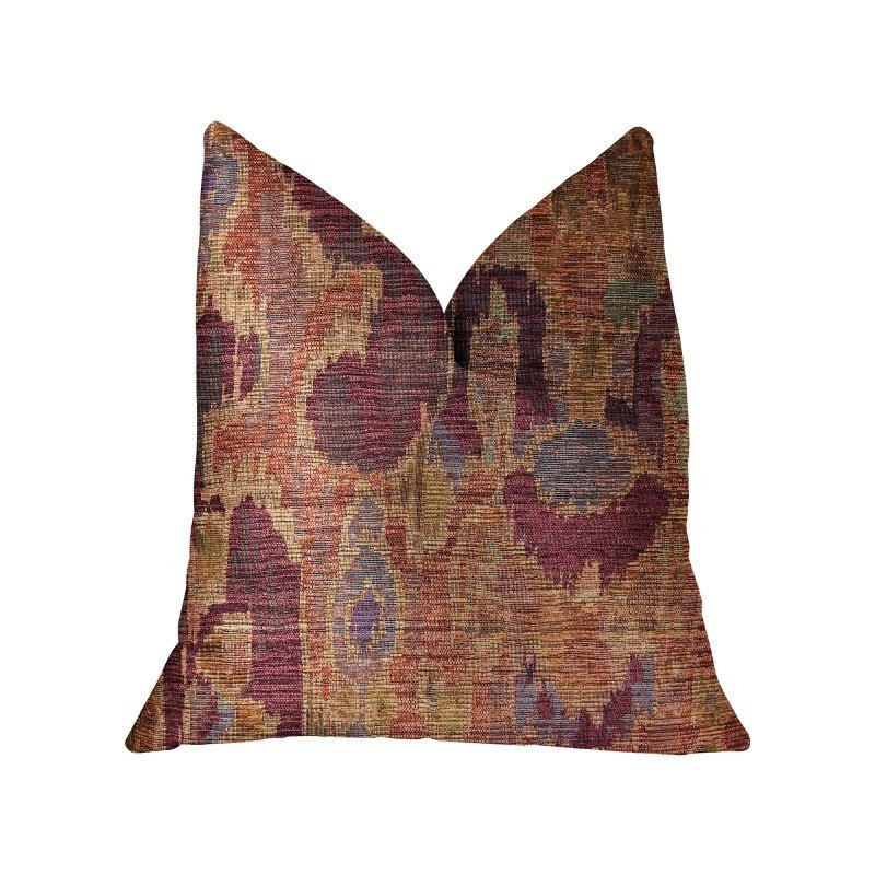 "Plutus Brands Bear Valley Red Luxury Throw Pillow 18"" x 18"" (PBRA2310-1818-DP)"