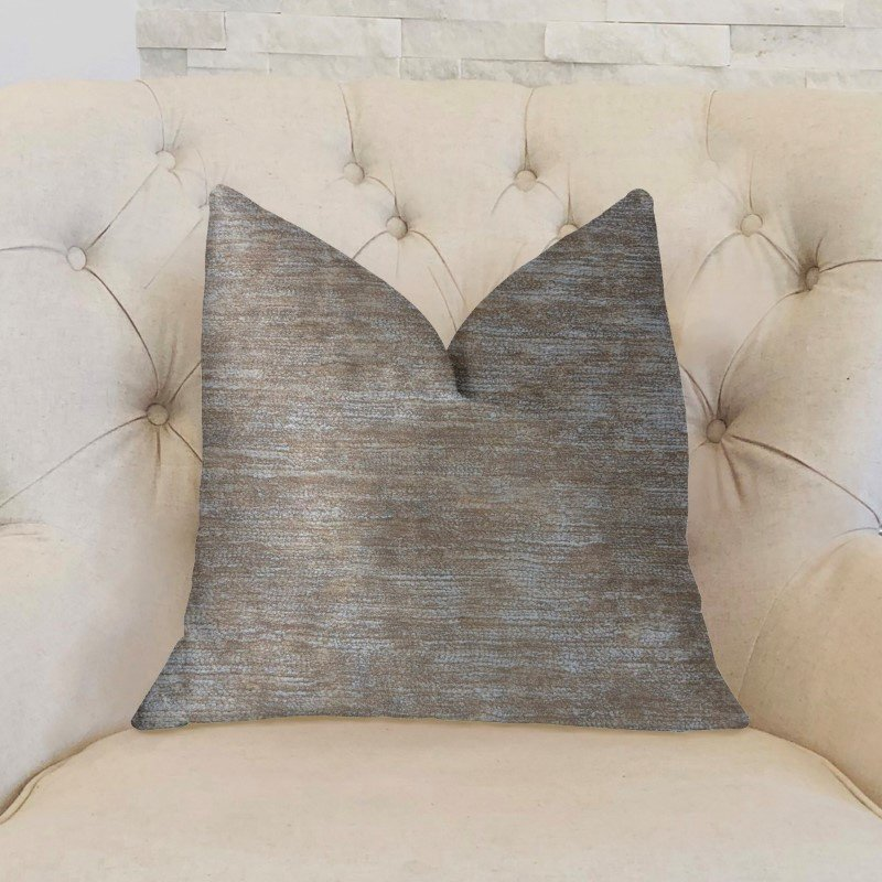 "Plutus Brands Bella Isabella Brown and Beige Luxury Throw Pillow 18"" x 18"" (PBKR1906-1818-DP)"
