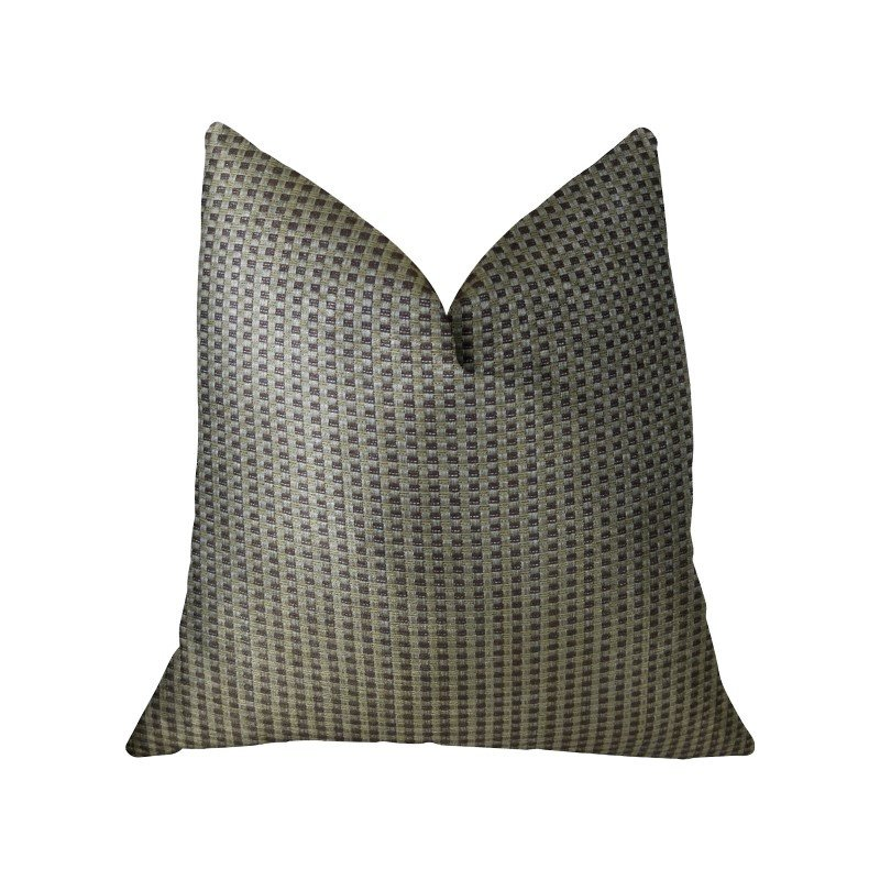 "Plutus Brands Bellevue Brown Handmade Luxury Pillow 16"" x 16"" (PBRAZ192-1616-DP)"