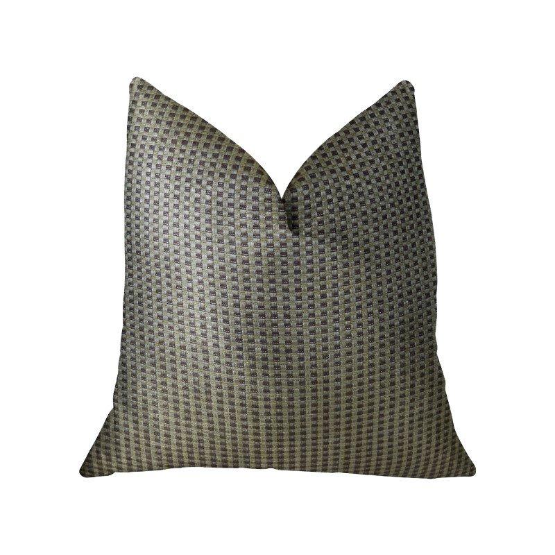 "Plutus Brands Bellevue Brown Handmade Luxury Pillow 18"" x 18"" (PBRAZ192-1818-DP)"