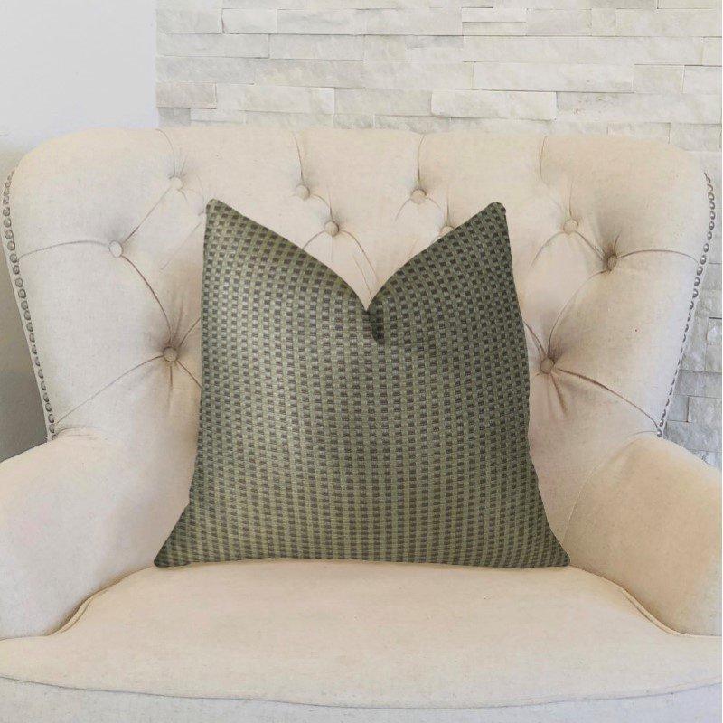 "Plutus Brands Bellevue Brown Handmade Luxury Pillow 22"" x 22"" (PBRAZ192-2222-DP)"