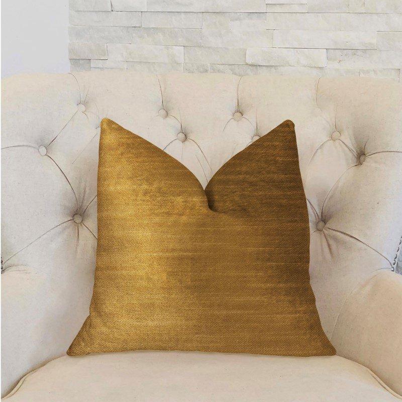 "Plutus Brands Beverly Gold Luxury Throw Pillow 20"" x 36"" King (PBRA2295-2036-DP)"
