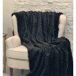 "Plutus Brands Black Mink Faux Fur Luxury Throw Blanket 102""L x 116""W California King (PBSF1447-102x116)"