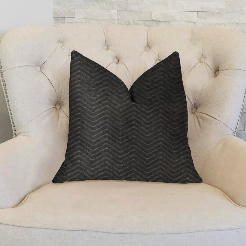 "Plutus Brands Black Panther Black Luxury Throw Pillow 24"" x 24"" (PBKR1981-2424-DP)"