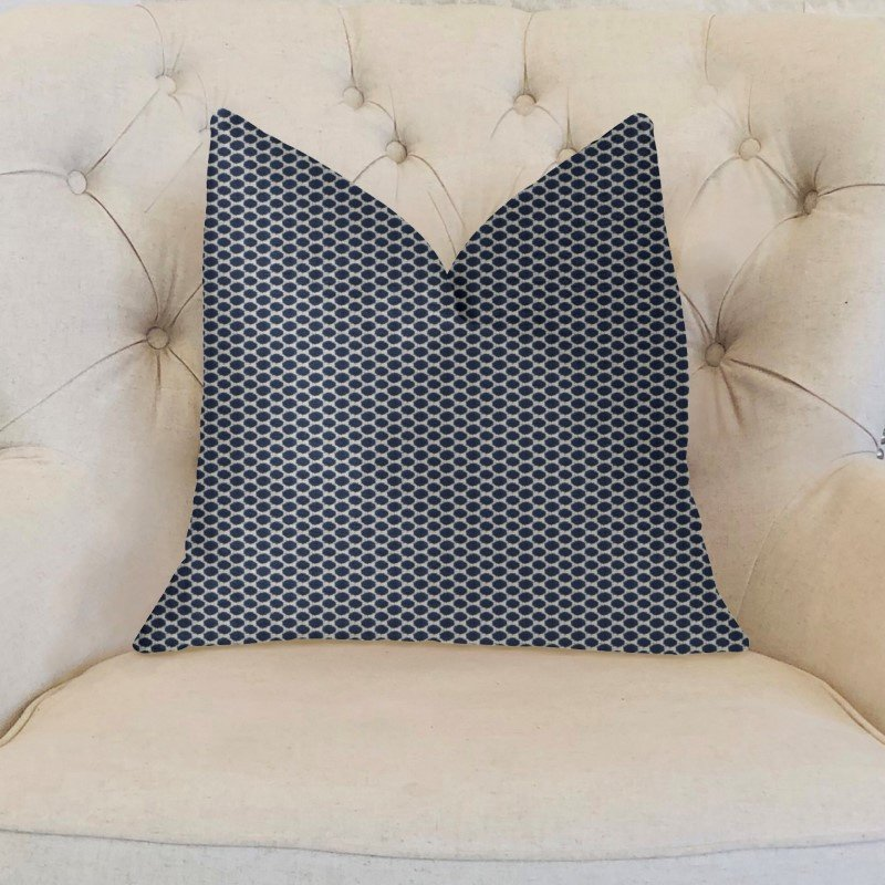 "Plutus Brands Blackwell Blue and Beige Luxury Throw Pillow 12"" x 20"" (PBKR1980-1220-DP)"