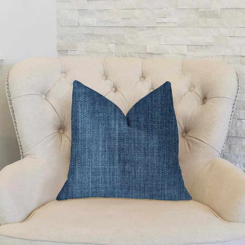"Plutus Brands Blue Moon Blue Luxury Throw Pillow 16"" x 16"" (PBKR1956-1616-DP)"