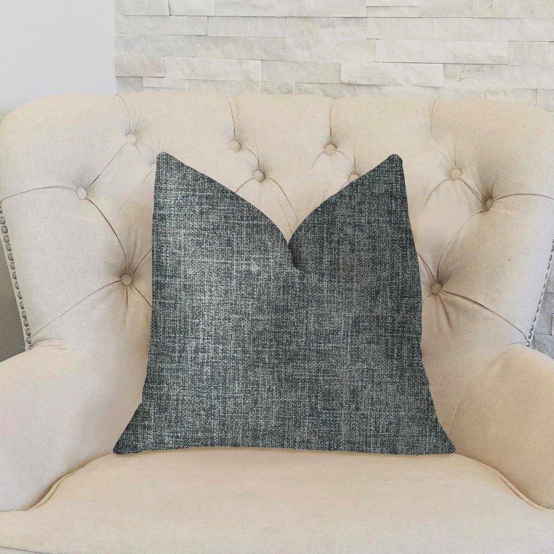 "Plutus Brands Blue Mountain Blue Luxury Throw Pillow 20"" x 30"" Queen (PBKR1975-2030-DP)"