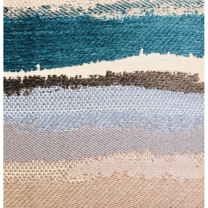 "Plutus Brands Blue Stone River Sand Multi Color Luxury Throw Pillow 18"" x 18"" (PBRA1342-1818-DP)"