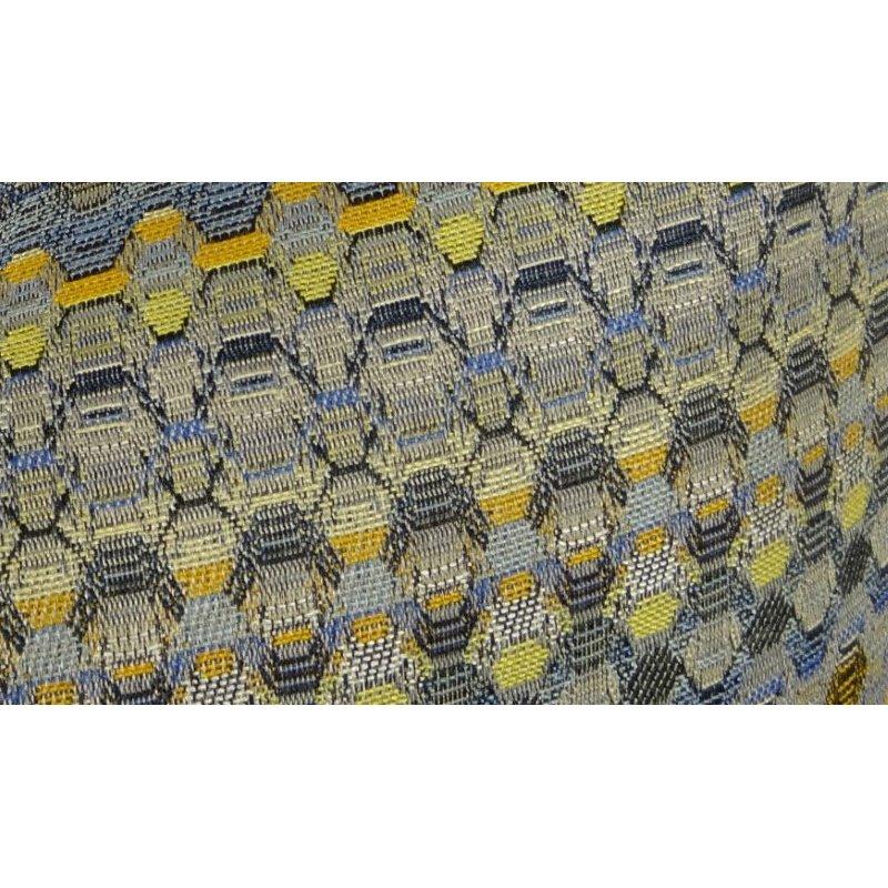 "Plutus Brands Blue Wynne Blue Navy and Yellow Handmade Luxury Pillow 24"" x 24"" (PBRAZ075-2424-DP)"