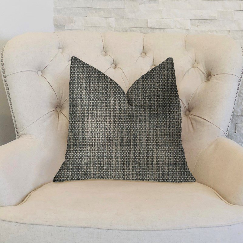 """Plutus Brands Bluejay Cayne Blue and Gray Luxury Throw Pillow 20"""" x 30"""" Queen (PBKR1974-2030-DP)"""