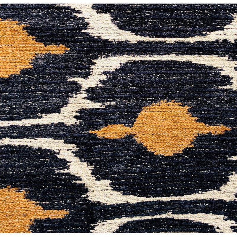 "Plutus Brands Bohemian Blue and Orange Ikat Luxury Throw Pillow 20"" x 36"" King (PBRA1313-2036-DP)"