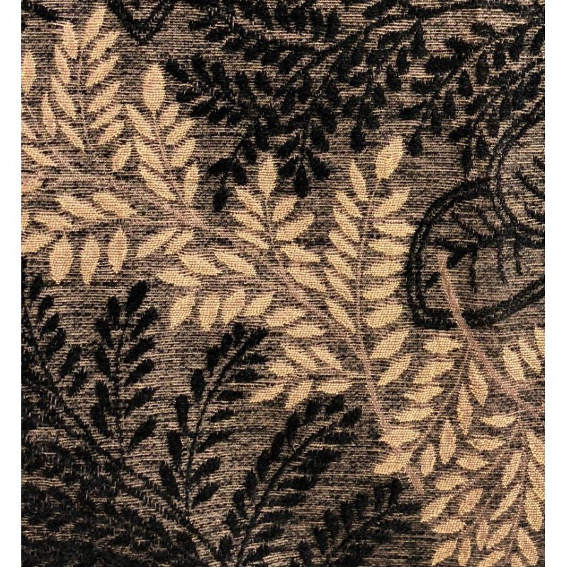 "Plutus Brands Bonzai Ebony Floral Throw Pillow in Black and Brown Pillows 16"" x 16"" (PBRA1369-1616-DP)"
