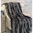 "Plutus Brands Brandy Grey Faux Fox Luxury Throw 60""W x 96""L (PBSF1419-6096-TC)"