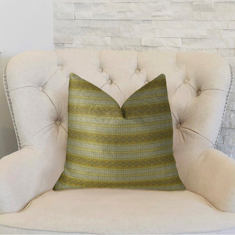 "Plutus Brands Bridge Cliff Taupe and Gray Handmade Luxury Pillow 20"" x 20"" (PBRAZ213-2020-DP)"