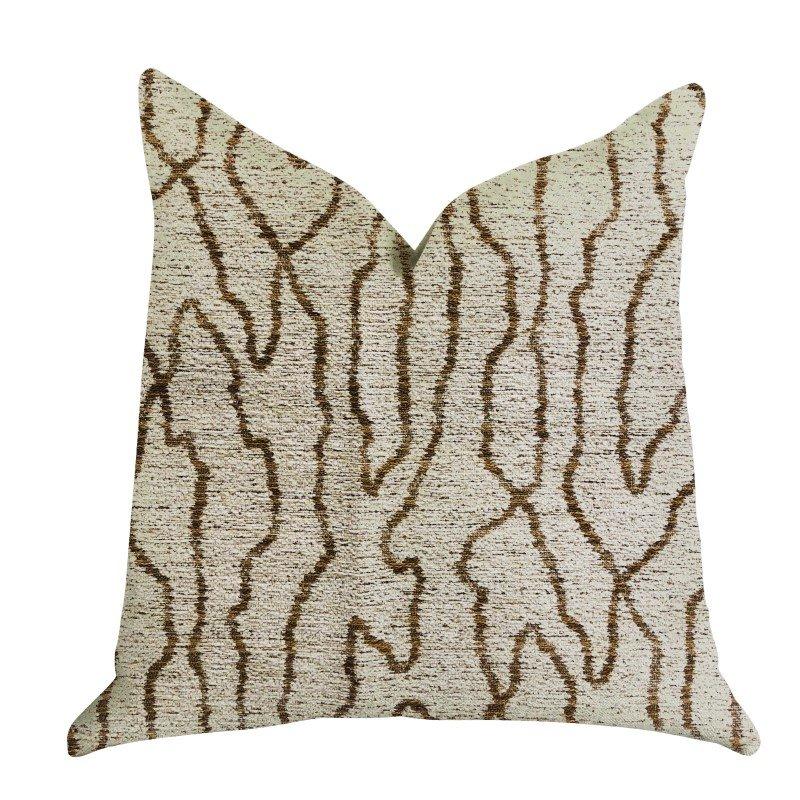 "Plutus Brands Buttercup Harlow Luxury Throw Pillow 24"" x 24"" (PBRA1326-2424-DP)"