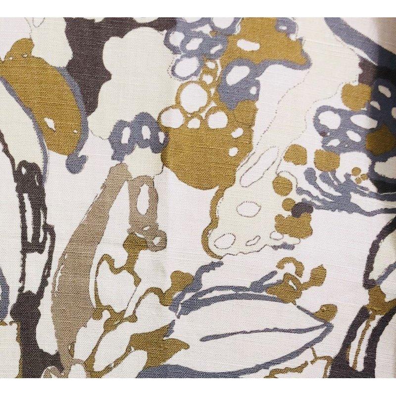 "Plutus Brands Camellia Floral Blue Beige Tones Luxury Throw Pillow 20"" x 30"" Queen (PBRA1358-2030-DP)"