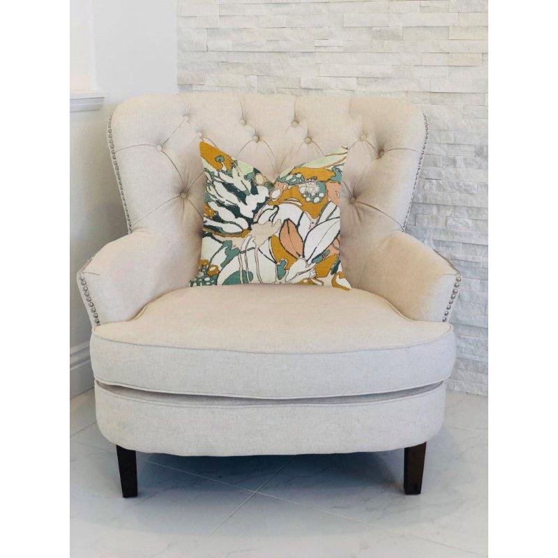 "Plutus Brands Camellia Floral Multi Color Luxury Throw Pillow 20"" x 26"" Standard (PBRA1359-2026-DP)"