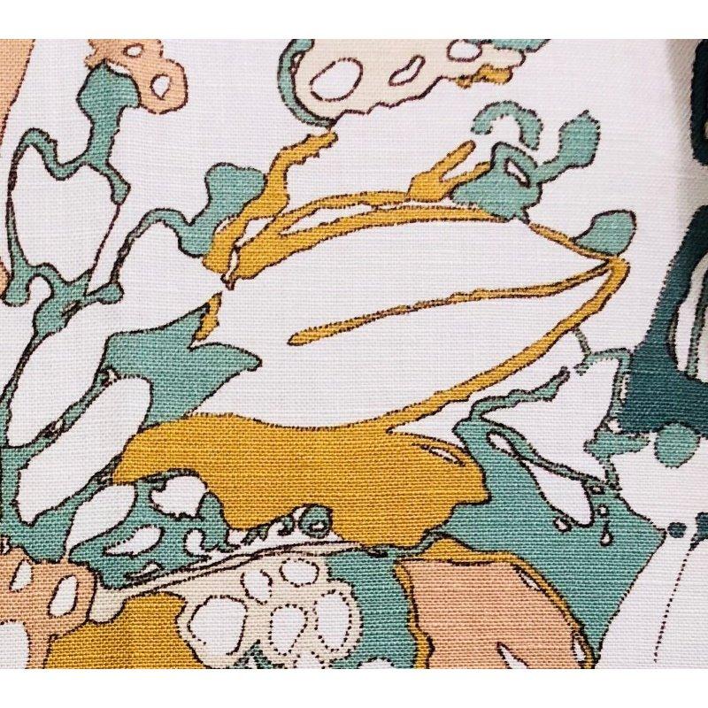 "Plutus Brands Camellia Floral Multi Color Luxury Throw Pillow 24"" x 24"" (PBRA1359-2424-DP)"