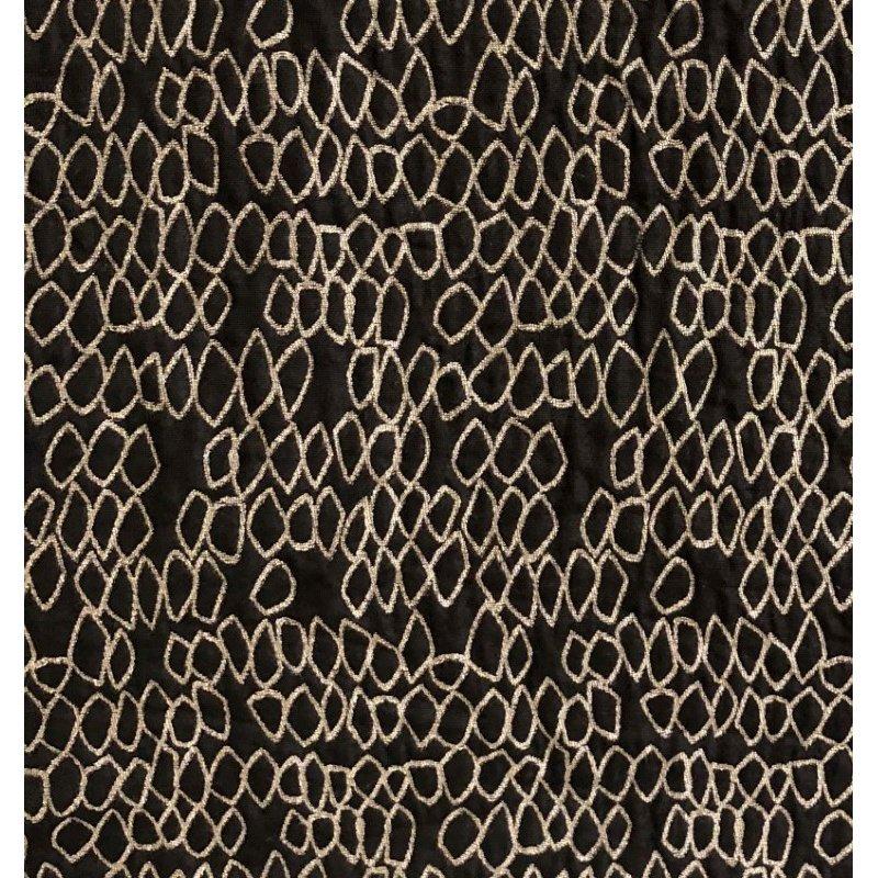 "Plutus Brands Carbonado Mine Luxury Throw Pillow in Black and White Pillows 20"" x 20"" (PBRA1370-2020-DP)"