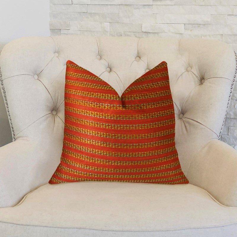 "Plutus Brands Carmine Red Handmade Luxury Pillow 20"" x 20"" (PBRAZ319-2020-DP)"