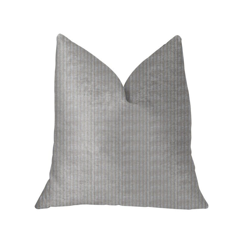 "Plutus Brands Cascade Beige Luxury Throw Pillow 20"" x 30"" Queen (PBKR1957-2030-DP)"