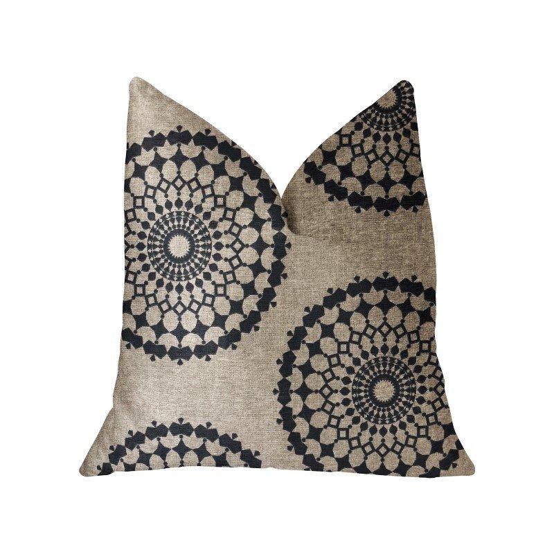"Plutus Brands Cascade Gold Green and Beige Luxury Throw Pillow 20"" x 36"" King (PBRA2242-2036-DP)"