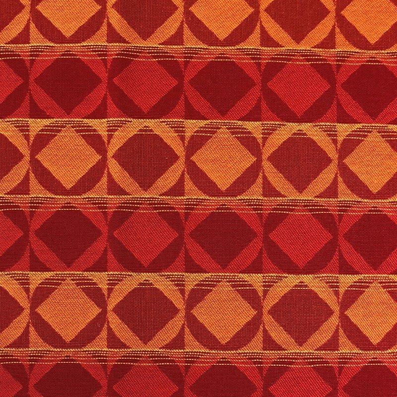 "Plutus Brands Celestial Red and Orange Luxury Throw Pillow 22"" x 22"" (PBRA2210-2222-DP)"