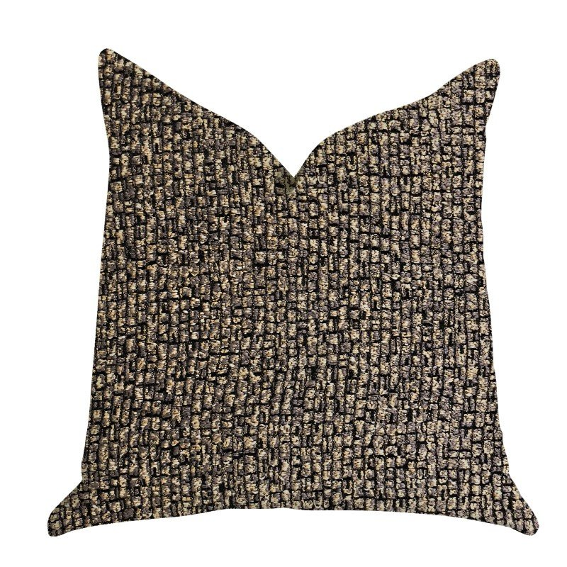 "Plutus Brands Chameleon Bronze and Gold Tone Luxury Throw Pillow 20"" x 30"" Queen (PBRA1386-2030-DP)"