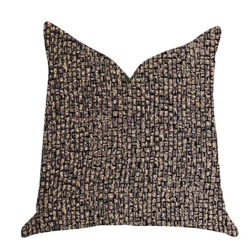 "Plutus Brands Chameleon Bronze and Gold Tone Luxury Throw Pillow 26"" x 26"" (PBRA1386-2626-DP)"
