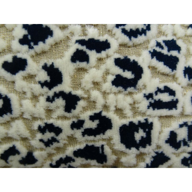 "Plutus Brands Cheetah Spots Cream and Black Handmade Luxury Pillow 24"" x 24"" (PBRAZ090-2424-DP)"