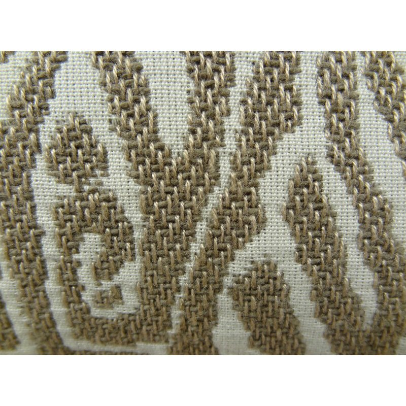 "Plutus Brands Cherokee Light Brown and Cream Handmade Luxury Pillow 20"" x 20"" (PBRAZ162-2020-DP)"